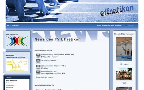 Screenshot of Home Page tveffretikon.ch - Turnverein Effretikon - captured Oct. 5, 2014