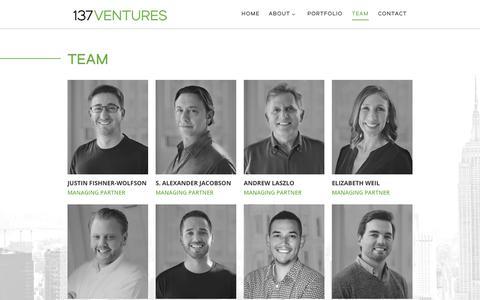 Screenshot of Team Page 137ventures.com - Team - 137 Ventures - captured Nov. 17, 2018