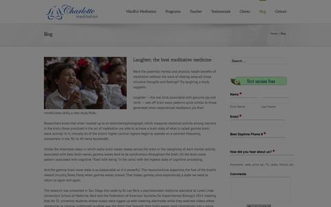 Screenshot of Blog charlottemeditation.com - Mindfulness Meditation | Charlotte Guided Meditation | CharlotteMeditation.com - captured Sept. 29, 2014