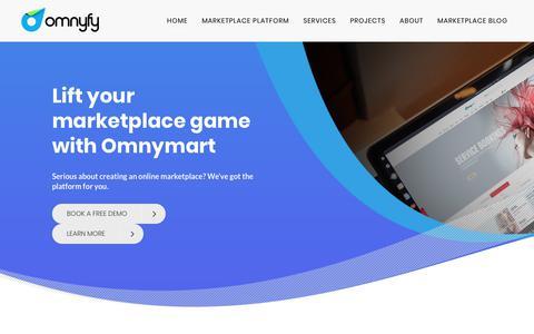 Screenshot of Home Page omnyfy.com - Omnyfy   Enterprise Class Multi-Vendor Online Marketplace Platform   Multi-Brand eCommerce solutions - captured Nov. 2, 2018