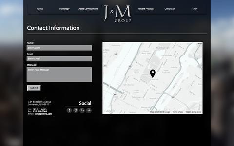 Screenshot of Contact Page jmmre.com - Contact - captured Oct. 3, 2014