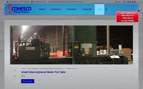 Screenshot of Press Page conesco.com - Blog - Conesco Storage Systems Inc. - captured Nov. 2, 2014