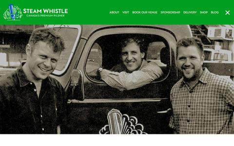 Screenshot of About Page steamwhistle.ca - Our Story | Steam Whistle Brewing - captured April 17, 2018