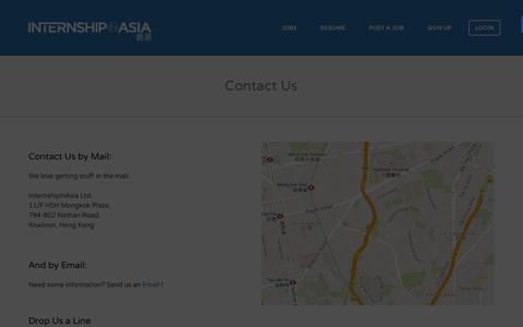 Screenshot of Contact Page internshipinasia.com - Contact Us | InternshipInAsia - captured Sept. 30, 2014