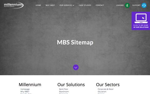 Screenshot of Site Map Page mbsavit.co.uk - Sitemap - Millennium Business Systems - captured Sept. 20, 2017