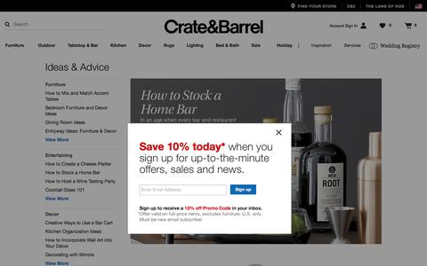 Ideas and Advice   Crate and Barrel