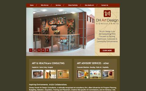 Screenshot of Home Page dhartdesign.com - DH Art Design - Welcome! - captured Oct. 5, 2014