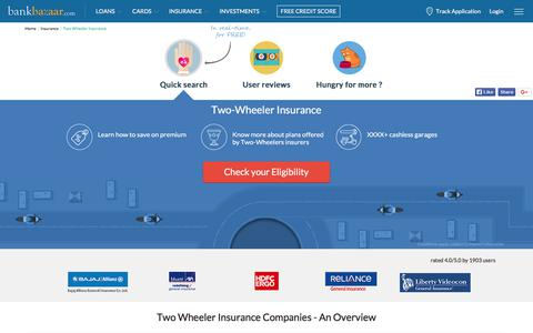 Two Wheeler Insurance online | Compare & Renew Bike Insurance