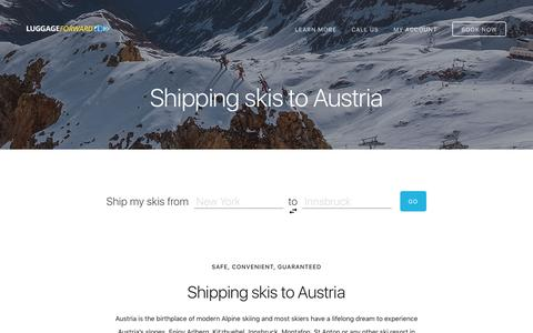 Shipping Skis to Austria - Guaranteed by Luggage Forward®