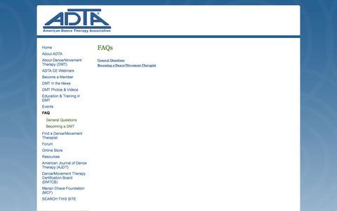 Screenshot of FAQ Page adta.org - ADTA - FAQ - captured Dec. 22, 2015