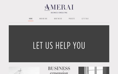 Screenshot of Home Page amerai.com - Amerai   Business Consulting - captured Nov. 20, 2016