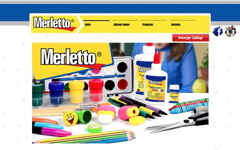 Screenshot of Home Page merletto.net - Merletto - Utiles Escolares, Oficina, y Manualidades - captured Sept. 20, 2018