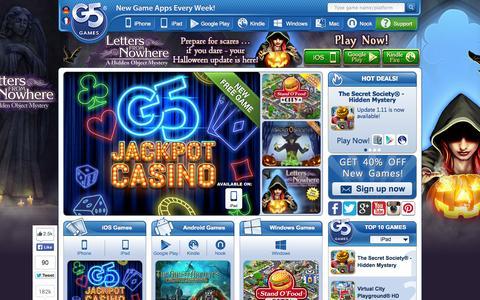 Screenshot of Team Page g5e.com - G5 Games - New Game Apps Every Week! - captured Nov. 1, 2014