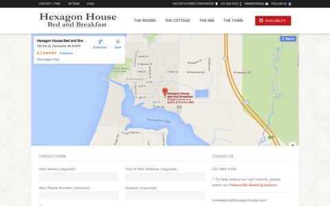 Screenshot of Contact Page hexagonhouse.com - Contact Information & Map | Hexagon House - captured June 21, 2016