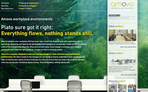 Screenshot of Home Page amovo.ca - Amovo | Workplace Environments - captured Oct. 4, 2014