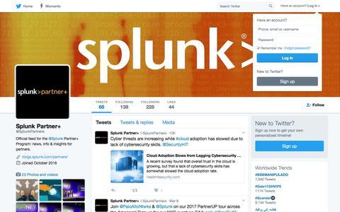 Splunk Partner+ (@SplunkPartners) | Twitter