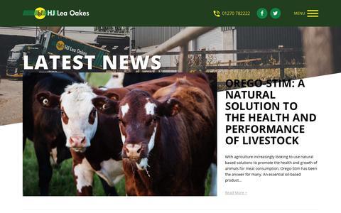 Screenshot of Press Page hjlea.com - News - HJ Lea Oakes Limited - captured Nov. 9, 2018