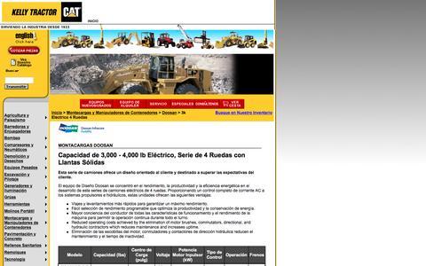Screenshot of Landing Page kellytractor.com - Montacargas Doosan con Capacidad de 3,000 - 4,000 lb, Eléctrico y Llantas Sólidas - captured Aug. 12, 2016