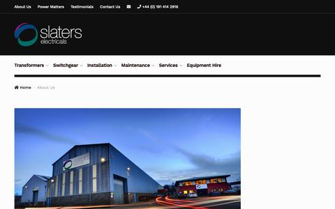 Screenshot of About Page slaters-electricals.com - About Us | Slaters Electricals - captured Oct. 1, 2018