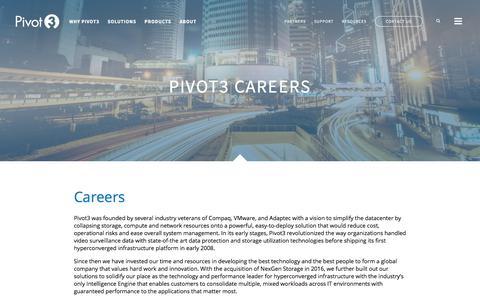 Screenshot of Jobs Page pivot3.com - Pivot3 | Careers - captured July 13, 2018