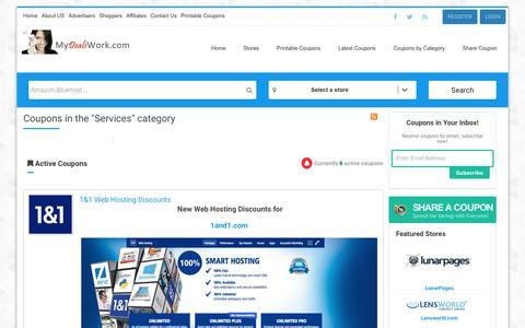 Screenshot of Services Page mydealswork.com - Services | MyDealsWork.com - captured June 14, 2017