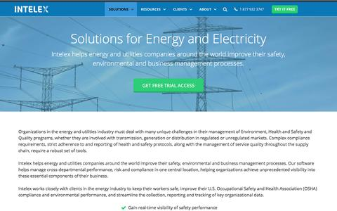 Energy & Electricity Solutions - EHS Management Software – Intelex