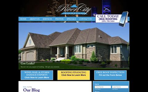 Screenshot of Blog rivercityroofingcorp.com - Our Blog | Rivercity Roofing - captured Oct. 9, 2014