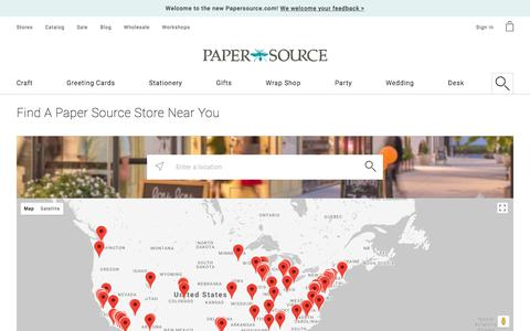 Store Locations | Paper Source