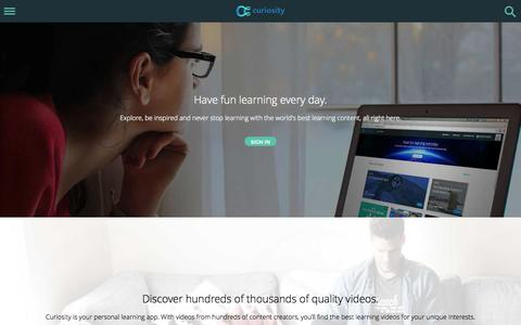 Screenshot of About Page curiosity.com - Curiosity: Explore the web's best learning videos. - captured Dec. 18, 2014