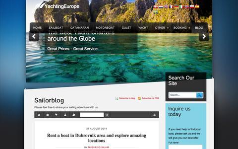 Screenshot of Blog yachtingeurope.com - Recent blog posts - YachtingEurope - Sailorblog - captured Sept. 30, 2014