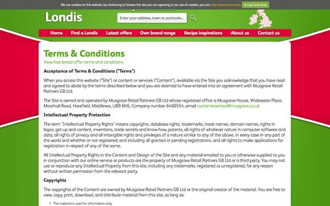 Screenshot of Terms Page londis.co.uk - Terms & Conditions - Londis - captured Sept. 22, 2014
