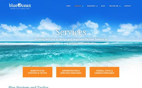 Screenshot of Services Page blueoceannj.com - Employee Healthcare Benefits Services | Blue Ocean Benefits & Consulting - captured Nov. 13, 2018