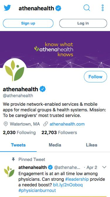 Tweets by athenahealth (@athenahealth) – Twitter