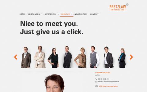 Screenshot of Team Page pretzlaw.de - Team - Pretzlaw Communications GmbHPretzlaw Communications GmbH - captured Aug. 18, 2017