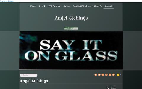 Screenshot of Contact Page angeletchings.com - Angel Etchings about us - captured July 26, 2016