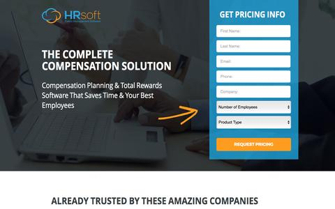 Screenshot of Pricing Page hrsoft.com - Compensation Planning & Total Rewards Software That Saves Time & Your Best Employees - captured May 9, 2017
