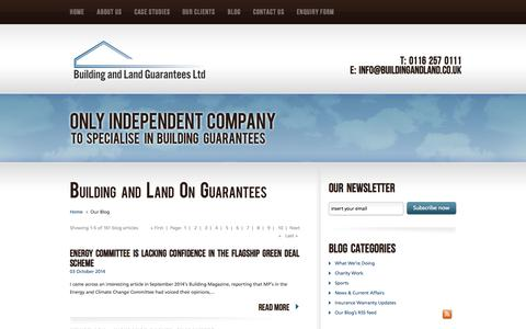 Screenshot of Blog buildingandland.co.uk - Blog - captured Oct. 5, 2014