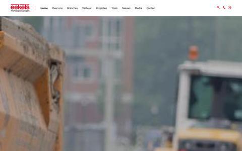 Screenshot of Home Page eekels.eu - Eekels Pompen   Verhuur van Pompen en Pompoplossingen! - captured Jan. 26, 2016
