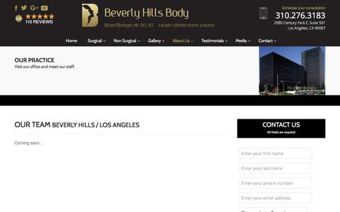 Screenshot of Team Page beverlyhillsbody.com - Plastic Surgery Specialists Beverly Hills - Los Angeles, West LA, Century City, Hollywood - captured Oct. 10, 2017