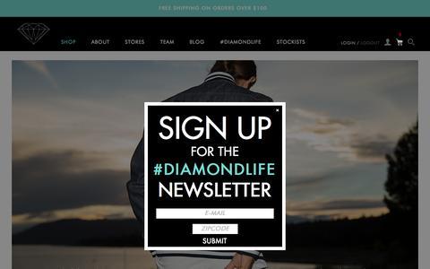 Screenshot of Home Page diamondsupplyco.com - Diamond Supply Co l Official Store - captured Oct. 16, 2015