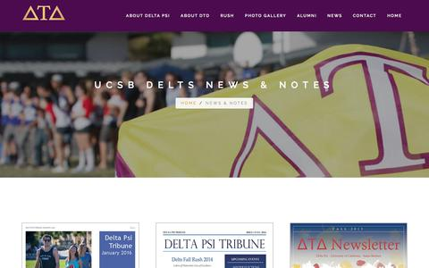 Screenshot of Press Page ucsbdelts.com - UCSB Delts — News & Notes - captured May 24, 2016