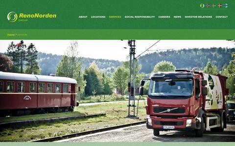 Screenshot of Services Page renonorden.com - RenoNorden » Services - captured March 8, 2016