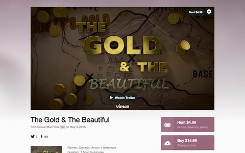 Screenshot of Home Page thegoldandthebeautiful.com - The Gold & The Beautiful - captured Oct. 9, 2015