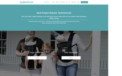 Screenshot of Testimonials Page glasshousere.com - Real Estate Rebate Testimonials | Glass House Real Estate - captured Oct. 2, 2014