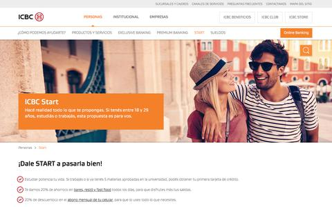 ICBC Start - Cuentas y Tarjetas con ICBC Beneficios