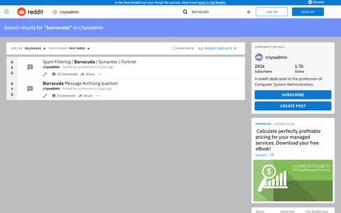 reddit.com: search results - barracuda