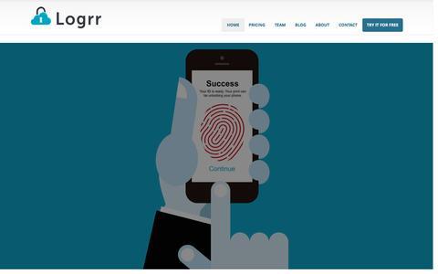 Screenshot of Home Page logrr.com - Logrr - captured Dec. 12, 2015