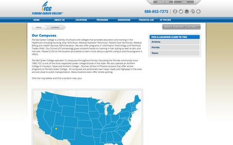 Screenshot of Locations Page anthem.edu - Anthem Education Campuses | Anthem.edu - captured Oct. 10, 2014