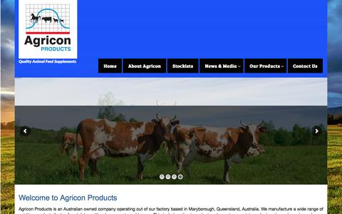 Screenshot of Home Page agricon.com.au - HOME - Agricon Products - captured Nov. 20, 2016