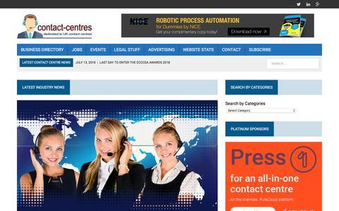 Screenshot of Home Page contact-centres.com - Home - Contact-Centres.com - captured July 24, 2018